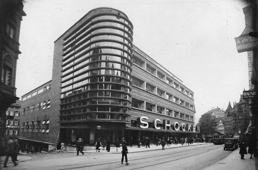 Das berühmte jüdische Kaufhaus an der Eberhardstraße mit seiner Bauhaus-Architektur in den dreißiger Jahren. Foto: Archiv