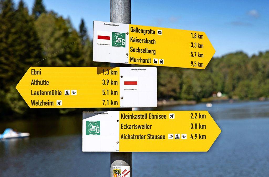 Allein rund um den Ebnisee bei Kaisersbach im Rems-Murr-Kreis sind der Wanderlust keine Grenzen gesetzt. Foto: Frank Eppler