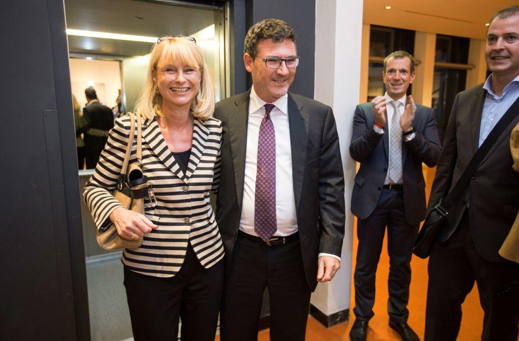 Ausgebootet?  Die CDU-Bundestagsabgeordneten Karin Maag (links) und  Stefan Kaufmann (daneben)  Alexander Kotz (hinten), Fraktionschef im Stuttgarter Gemeinderat Foto: Michael Steinert