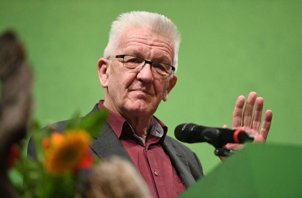 Hat am Montag von Jürgen Resch, Chef der Deutschen Umwelthilfe, Gegenwind bekommen: Winfried Kretschmann. Foto: dpa