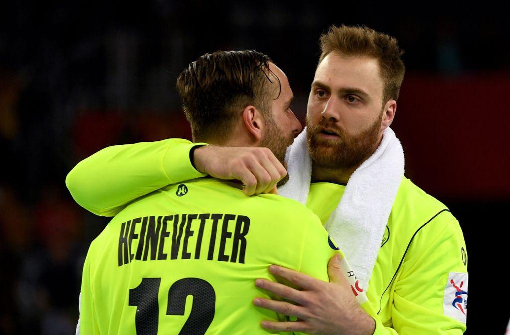 Deutsches Torhüter-Gespann bei der Handball-WM:  Silvio Heinevetter (links) und Andreas Wolff Foto: dpa