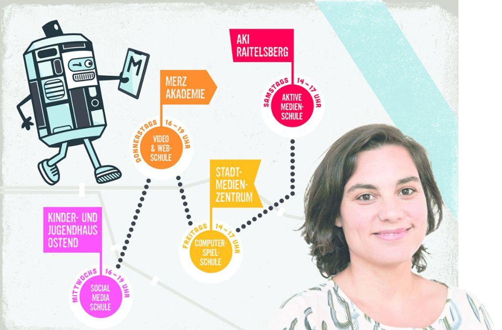 Die Medienpädagogin Isabel Huber ist in der Pilotphase Kopf und Koordinatorin der neuen Medienschule. Foto: Merz-Akademie