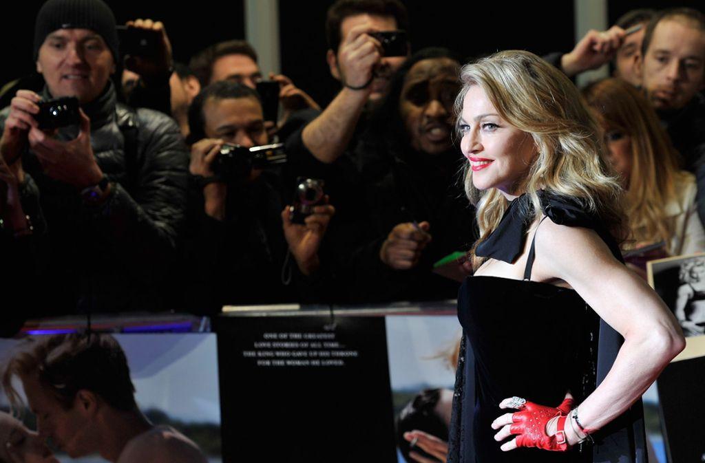 Sie ist es: Madonna bei einem Auftritt in London 2012 Foto: Getty Images Europe