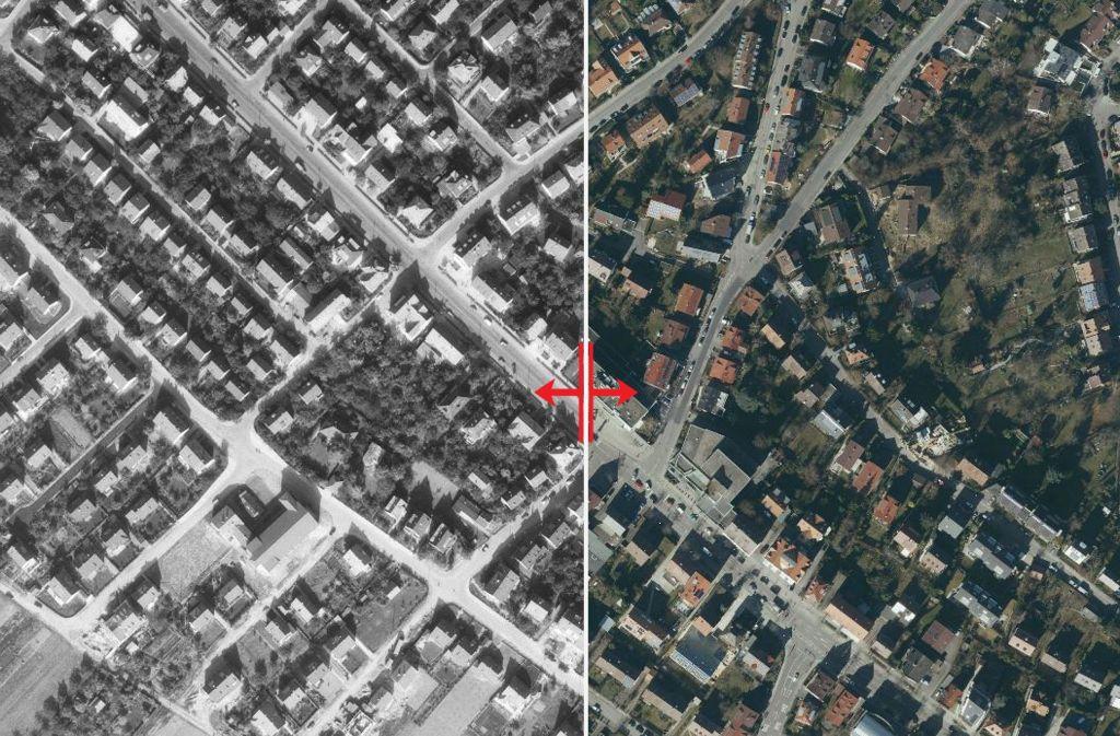 Die Kirchheimer Straße hat sich im Laufe der Jahrzehnte stark verändert. Nicht viel erinnere an früher,   erzählen Anwohner Foto: Stadtmessungsamt/Plavec