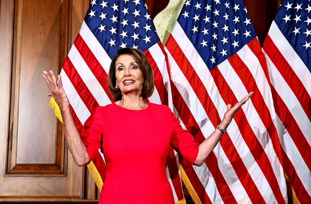 Unerschrocken: Nancy Pelosi, die Vorsitzende des US-Repräsentantenhauses Foto: AP