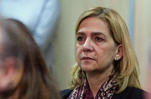 Infantin Cristina freigesprochen, Ehemann zu sechs Jahren Haft verurteilt