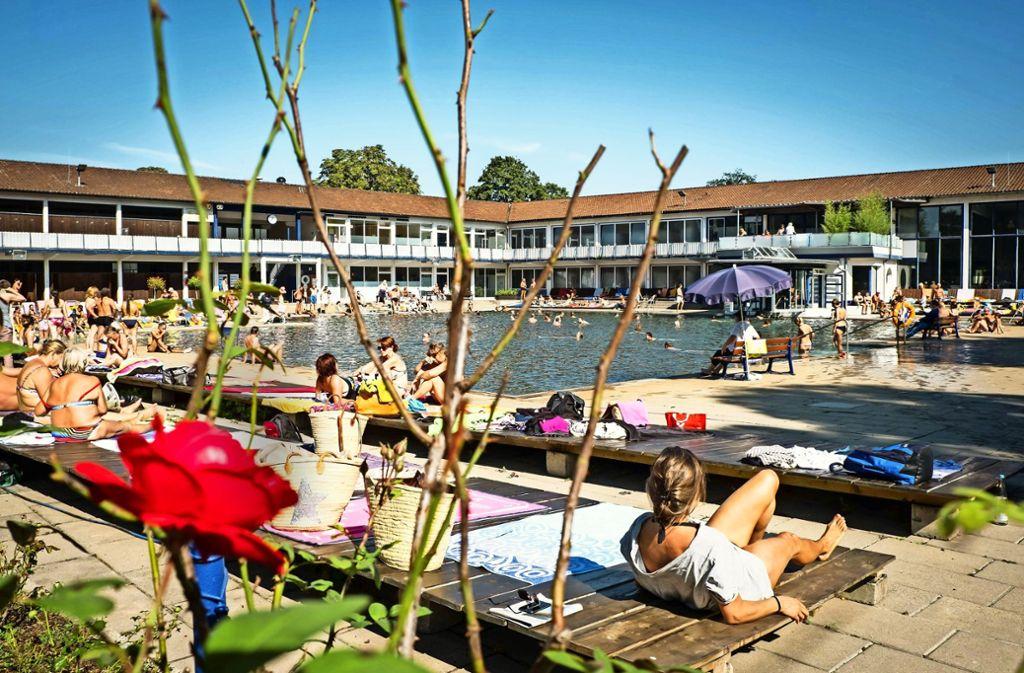 Im September 2016 waren die letzten Gäste im Mineralbad. Foto: Lichtgut/Achim Zweygarth