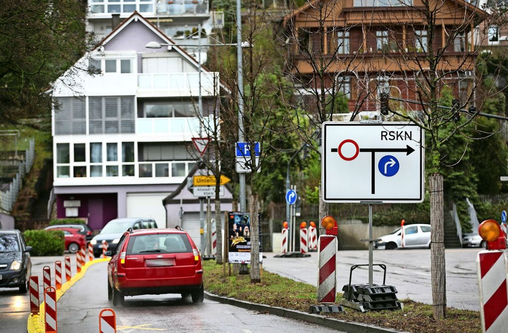 Esslinger Autofahrer, die in der kommenden Woche über den Altstadtring fahren, müssen sich auf Staus einstellen. Foto: Horst Rudel/Archiv