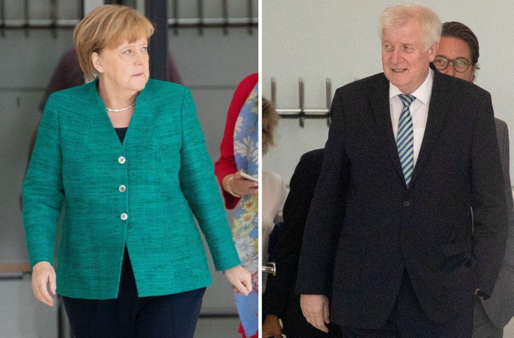 Antagonisten im Flüchtlingsstreit: Kanzlerin Angela Merkel und Innenminister Horst Seehofer. Foto: dpa