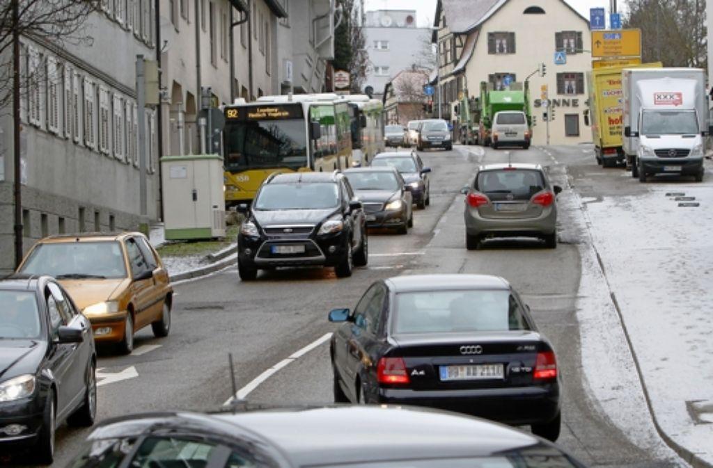 Die Leonberger Grabenstraße. Foto: factum/Archiv