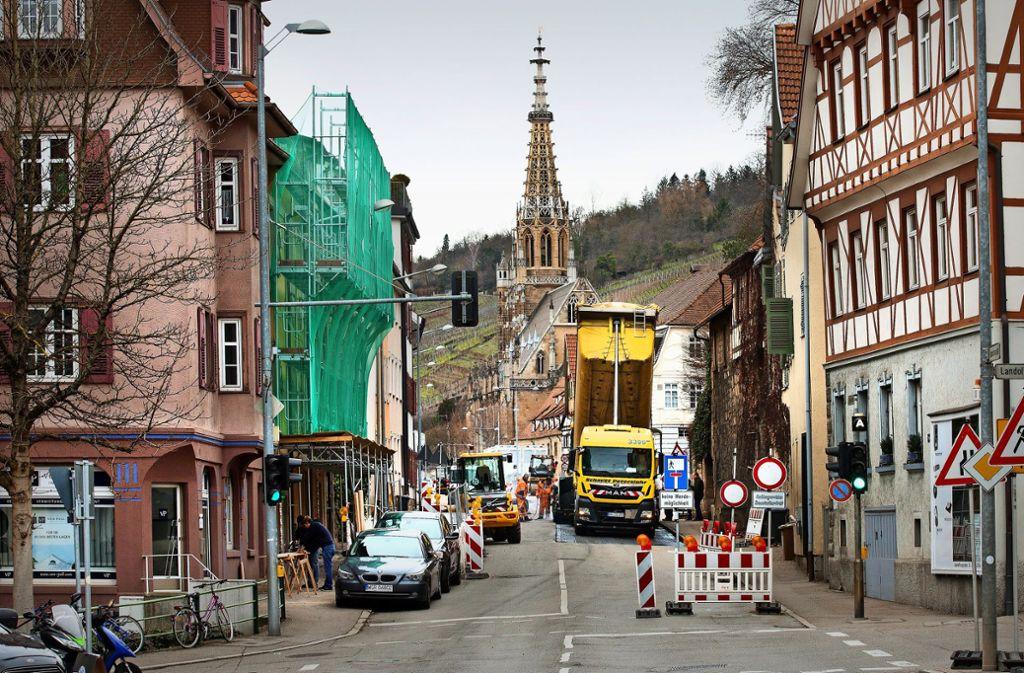 Die Sperrung des nördlichen Altstadtrings in der vergangenen Woche hat einen Vorgeschmack auf das Kommende gegeben. Foto: Horst Rudel