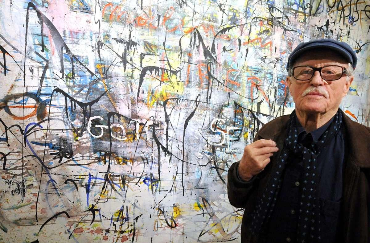 """Hans Staudacher galt als der wichtigste österreichische Vertreter des Dadaismus und der """"art informel"""" Foto: dpa/Herbert Pfarrhofer"""