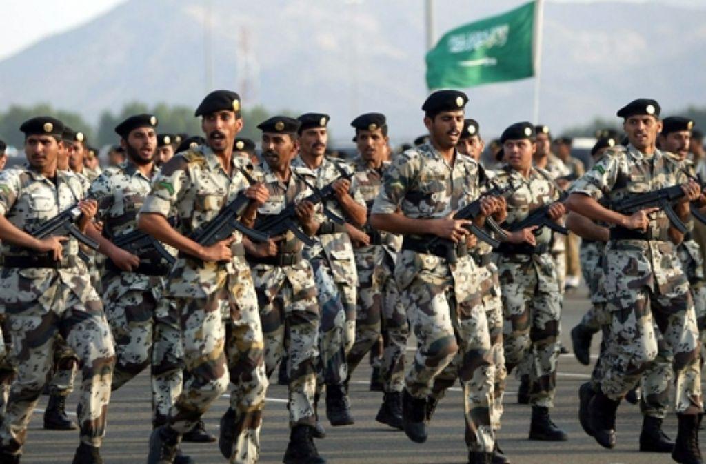 Saudi-arabische Soldaten im Einsatz gegen die Terrormiliz Islamischer Staat? Der saudische Staat ist dazu jetzt bereit. Foto: dpa