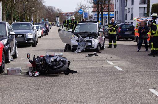 Zwei Schwerverletzte nach Motorradunfall