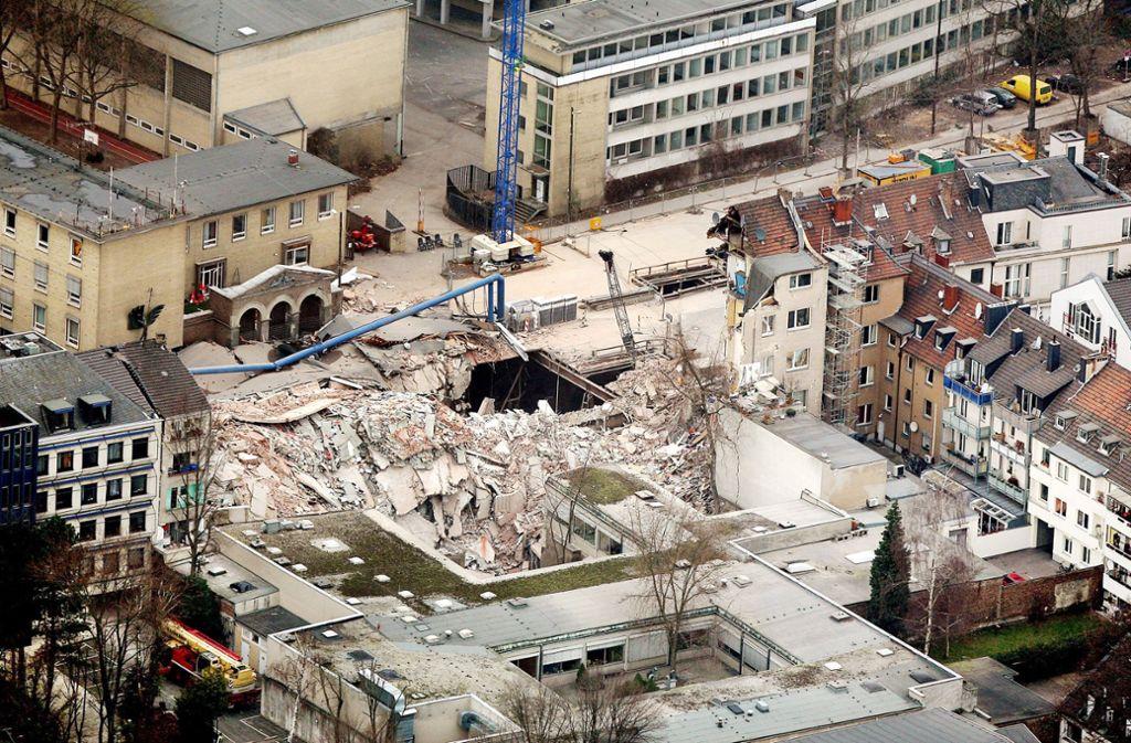 Im Jahr 2009 ist das Kölner Stadtarchiv eingestürzt. Foto: dpa
