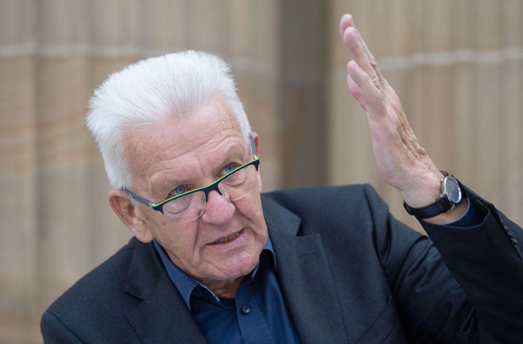 Ministerpräsident Winfried Kretschmann attackiert die AfD. Foto: dpa