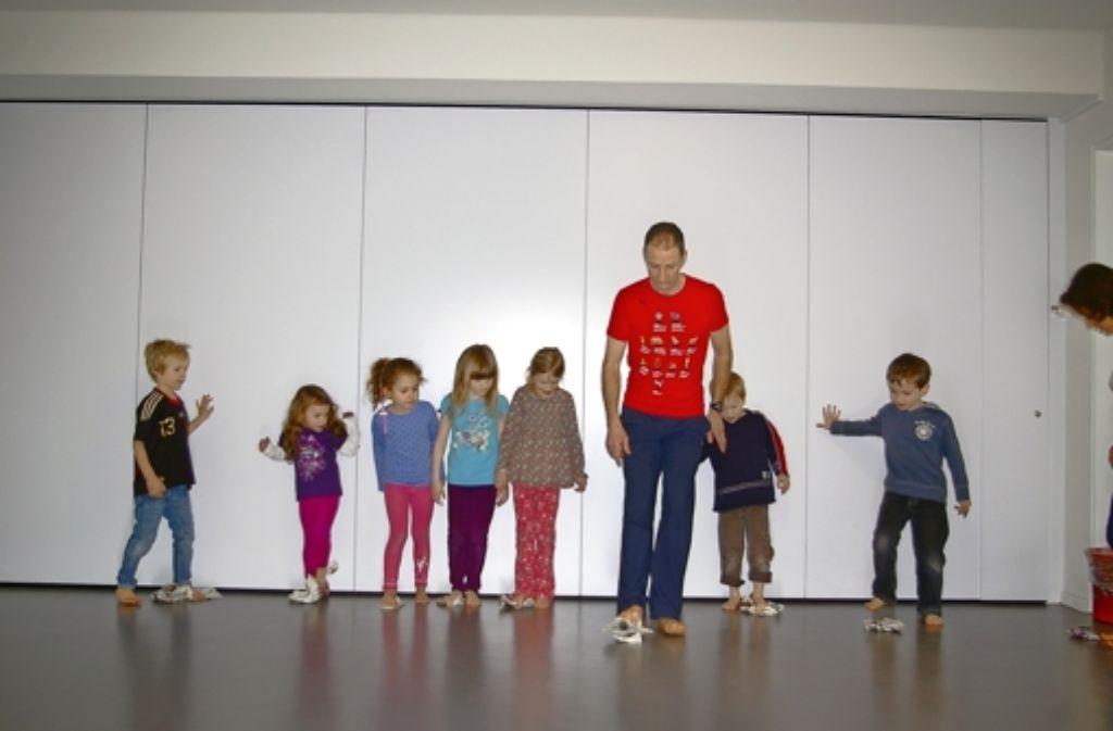 Mit dem Projekt Kitafit ist der SVV in den Kindergärten präsent. Foto: Archiv Alexandra Kratz