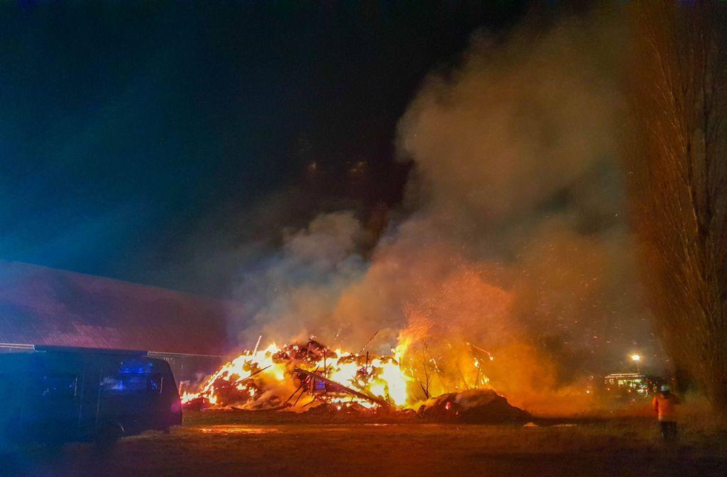 In Philippsburg hat es am Mittwochabend gebrannt. Foto: 7aktuell.de/ 7aktuell