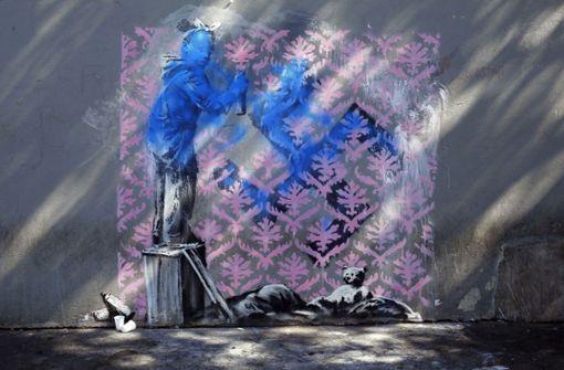 Banksy-Kunstwerk zerstört sich nach Versteigerung selbst