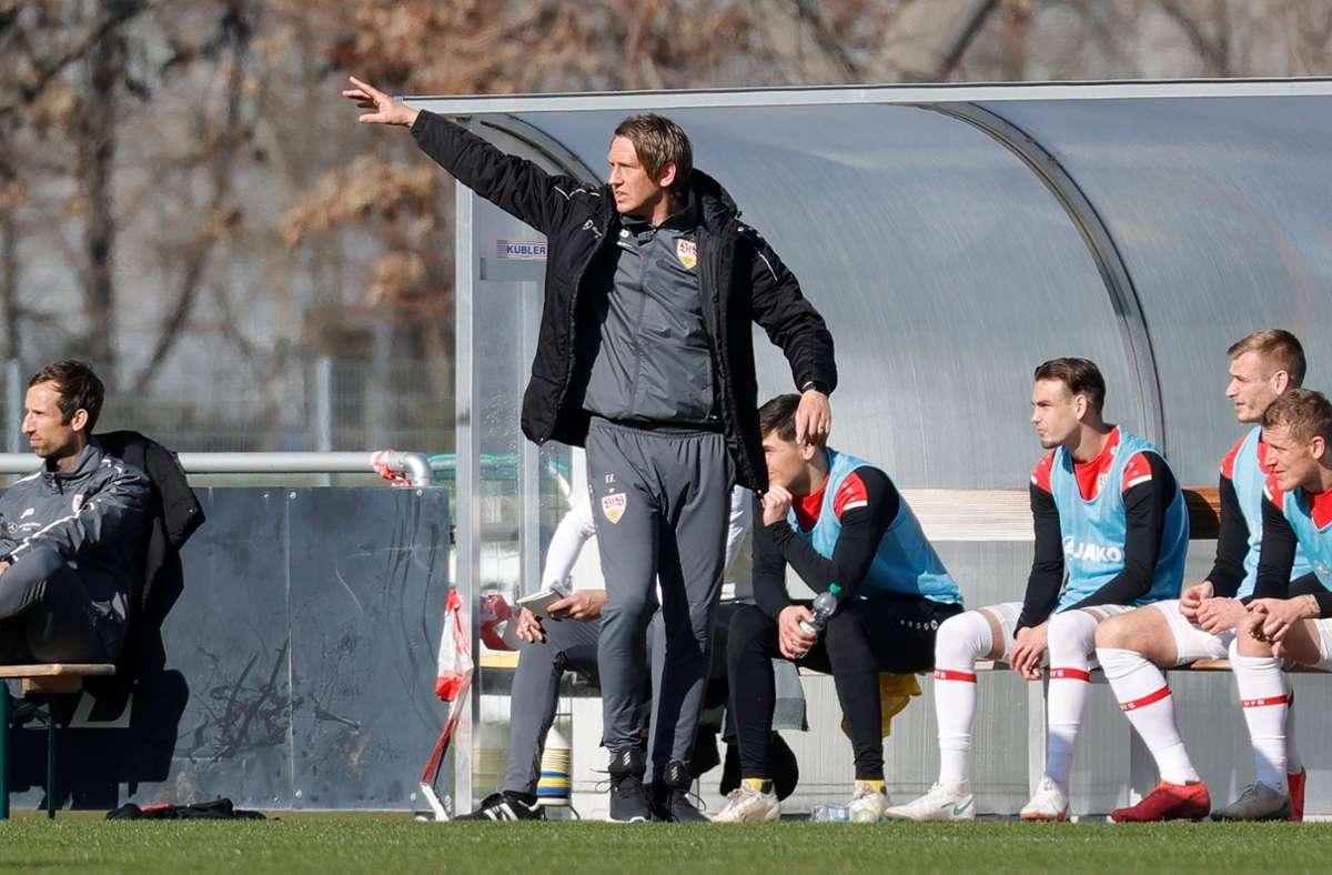Keine Punkte für den VfB II gab es in Baden – die U21 verlor in Bahlingen mit 0:1. Foto: Pressefoto Bauman/Volker Mueller