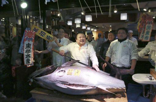 Sushi-Kette ersteigert Thunfisch für 609.000 Euro