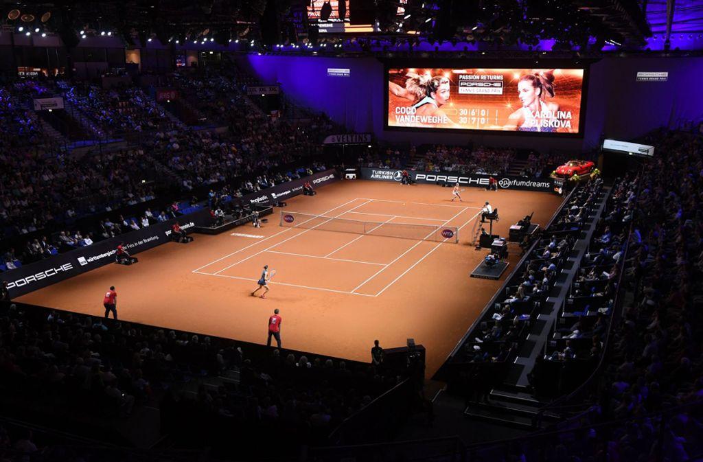 In der Stuttgarter Porsche-Arena findet in diesem Jahr kein Filzball-Spektakel statt. Foto: dpa/Marijan Murat
