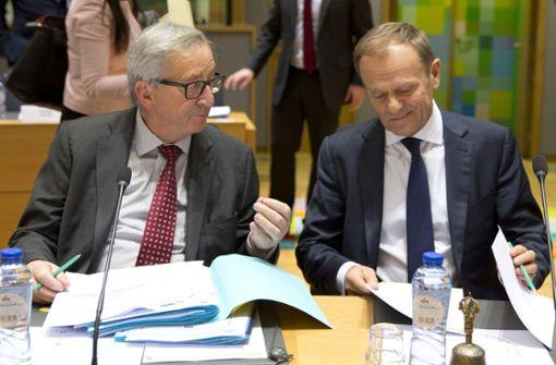 Tusk und Juncker bieten Großbritannien Verbleib in EU an