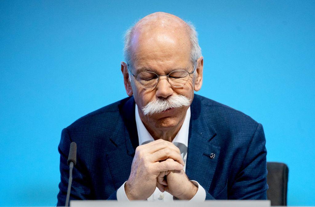 Ex-Daimler-Chef  Zetsche hat mit Immobilienfonds Geld verloren. Foto: dpa