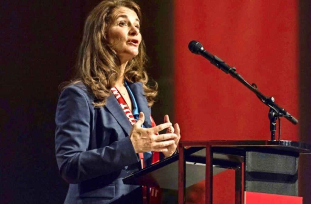 Melinda Gates hat in der Stuttgarter Liederhalle gesprochen. Foto: dpa
