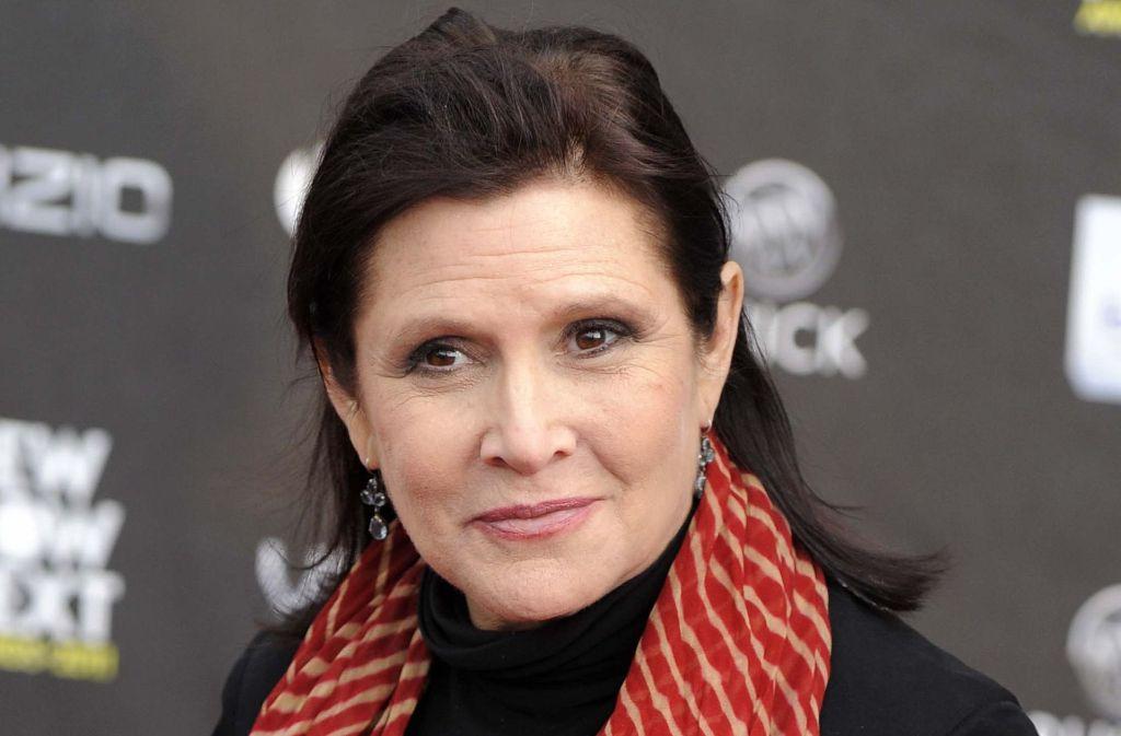 Carrie Fisher wurde durch ihre Rolle als Prinzessin Leia in Star Wars weltberühmt. Sie starb am 27. Dezember 2016. Foto: AP