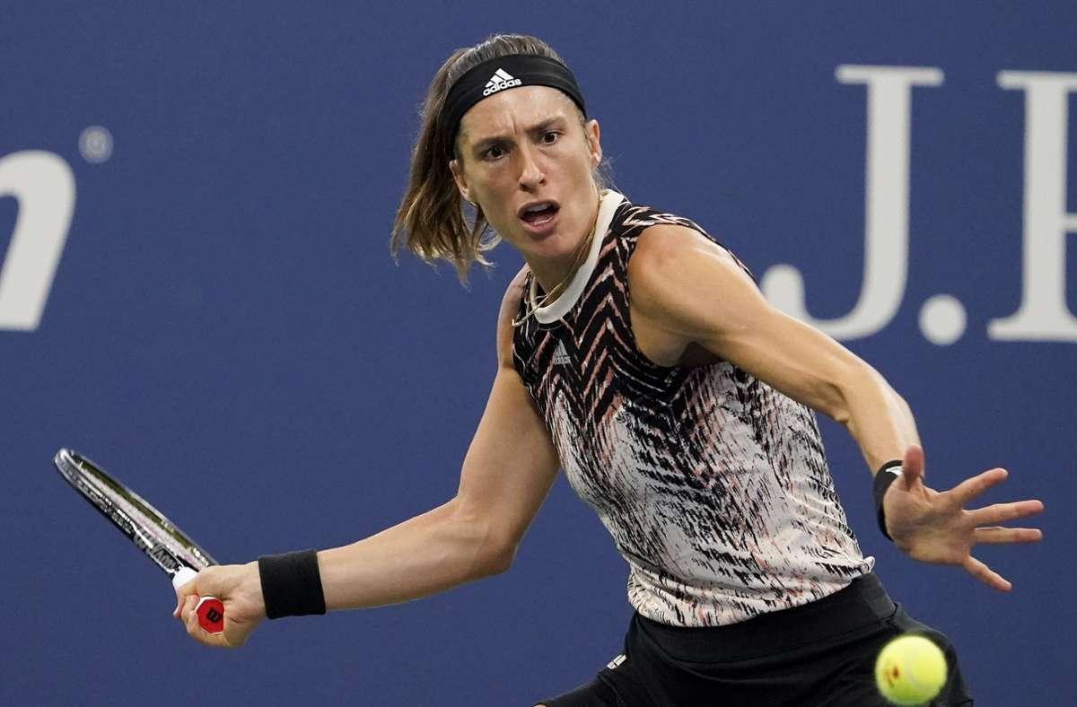 Andrea Petkovic bei den US Open. Foto: dpa/Seth Wenig