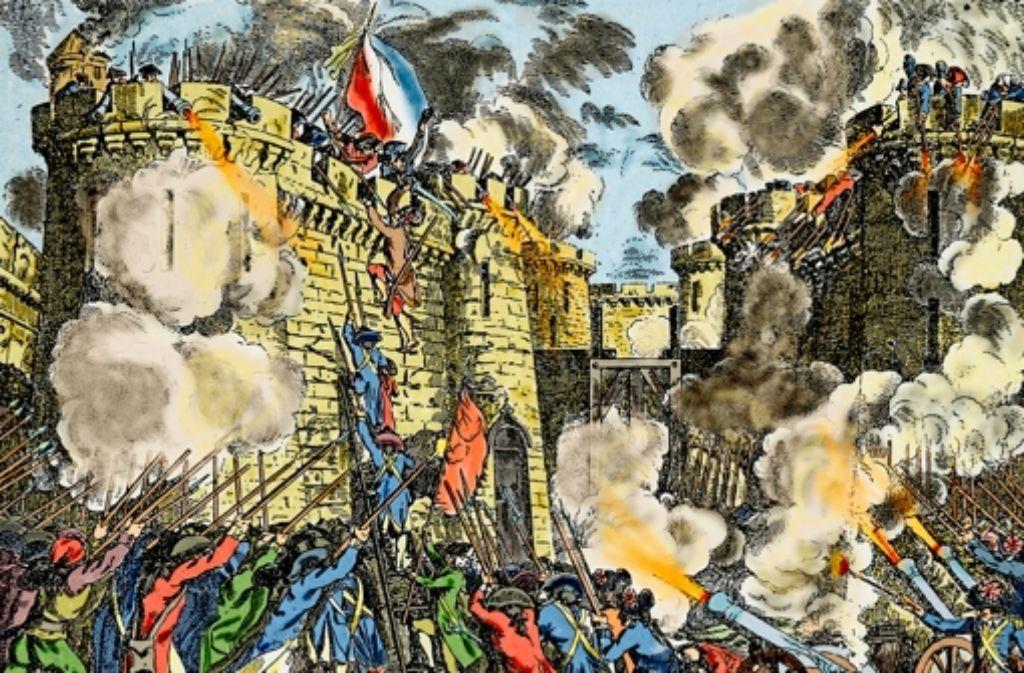 Das Chaos der Revolution, hier die Erstürmung der Bastille, erwies sich als  Chance im Leben des Karl Friedrich Reinhard. Foto: Mauritius