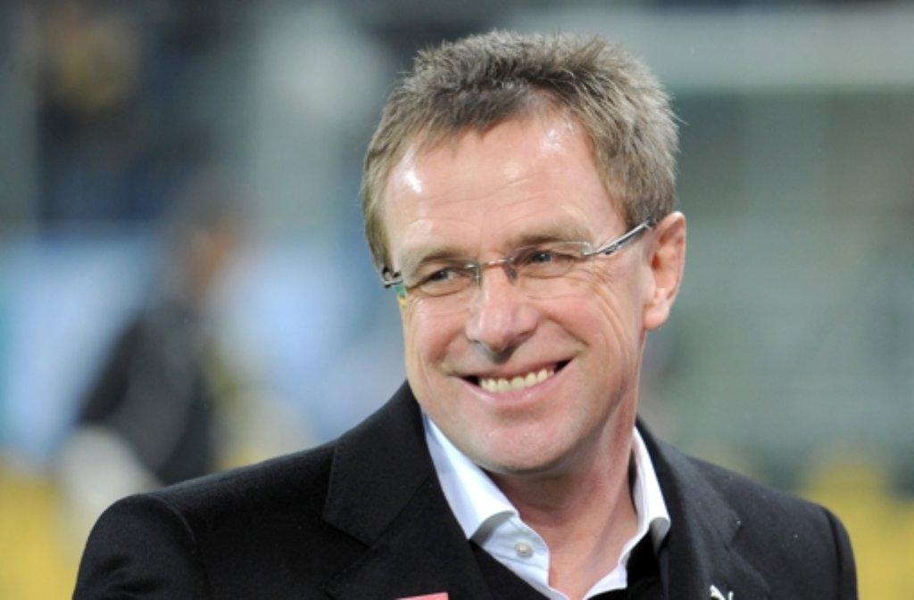 """Ralf Rangnick setzt auf junge Spieler – """"das ist inzwischen ein Qualitätsmerkmal. Foto: dpa"""