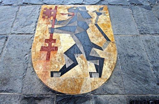 Das Altkreis-Wappen ziert  die Tiefgarage