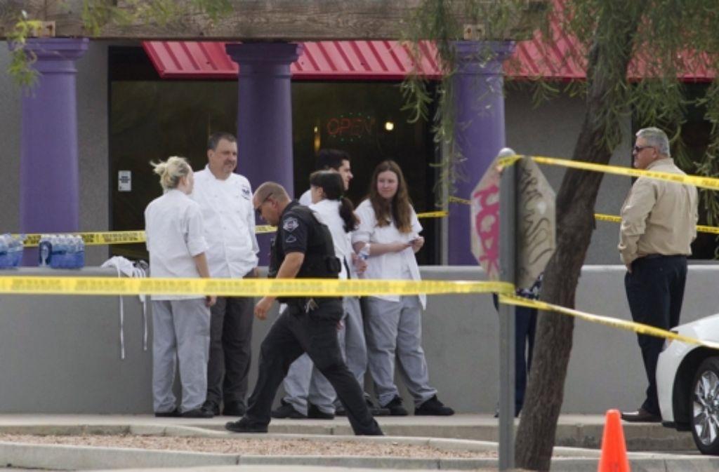 Am Mittwochmorgen (Ortszeit) waren laut Polizei in einem Motel Schüsse gefallen, vermutlich nach einem Streit. Foto: dpa