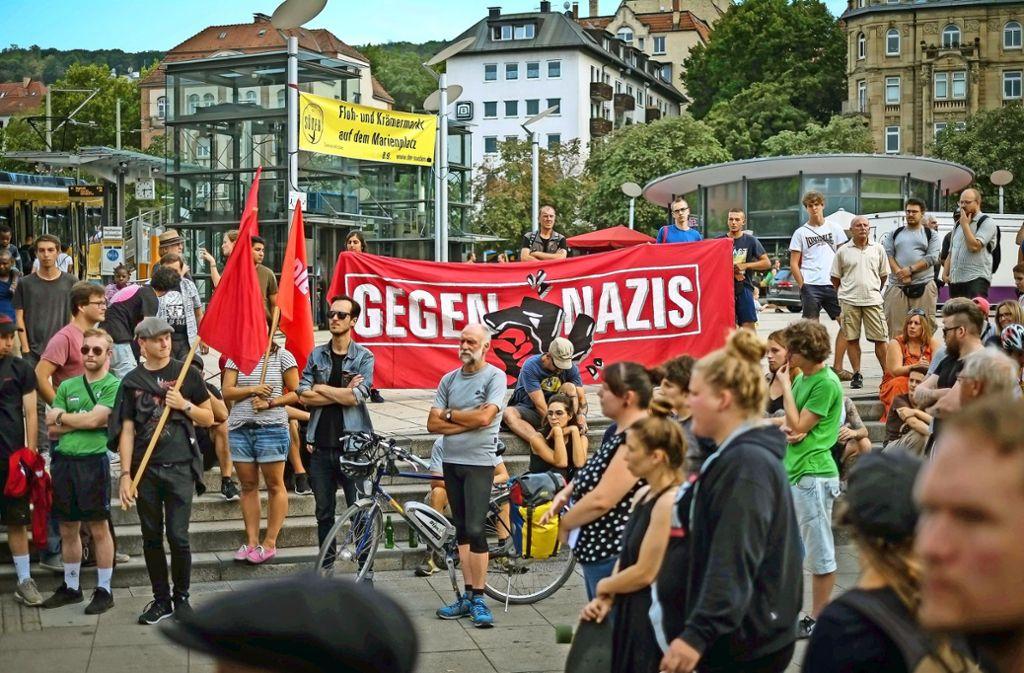 Protest auf dem Marienplatz Foto: Lg/Kovalenko