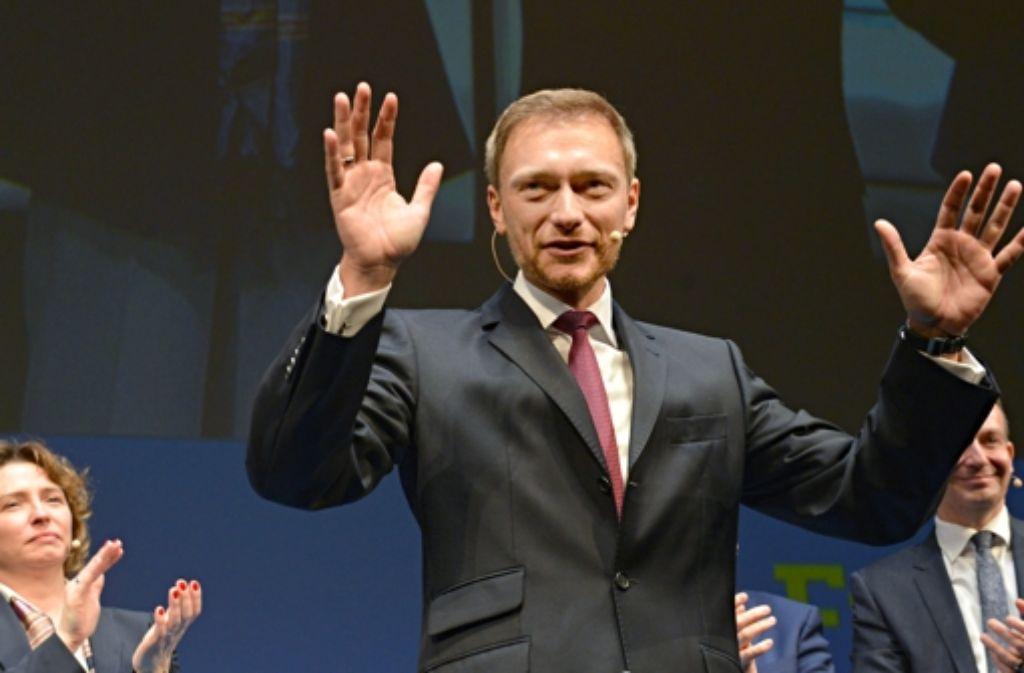 Christian Lindner beim Dreikönigstreffen der FDP in Stuttgart. Foto: dpa