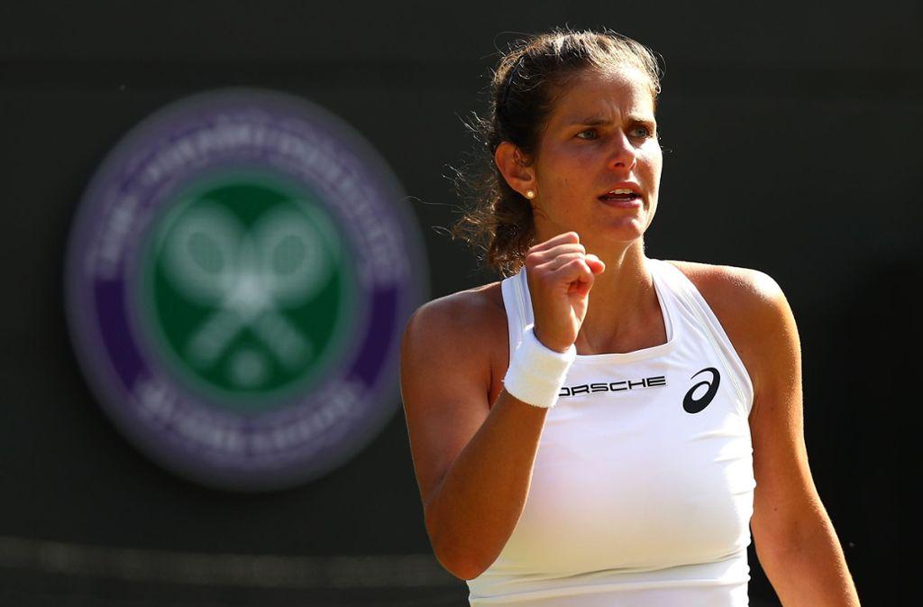 Julia Görges steht erstmals im Halbfinale von Wimbledon. Foto: Getty Images Europe