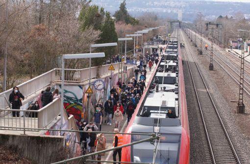 S-Bahnverkehr zwischen Bad Cannstatt und Waiblingen zeitweise gesperrt