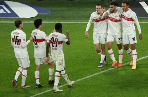 So feiern die Spieler des VfB Stuttgart ihren Sieg auf Instagram