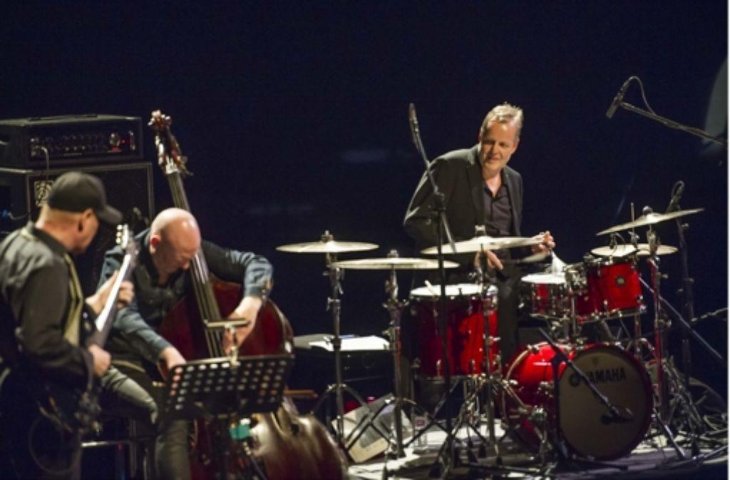 Der Schlagzeuger Wolfgang Haffner (r.) begeisterte am Karsamstag. Foto: Lichtgut/Max Kovalenko