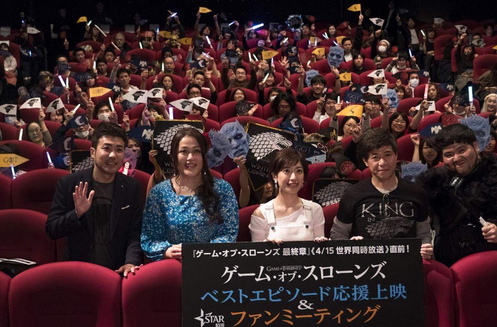 """Überall auf der Welt – hier in Japan – warten Fans auf die neue """"Game of Thrones"""" Staffel. Foto: AFP"""