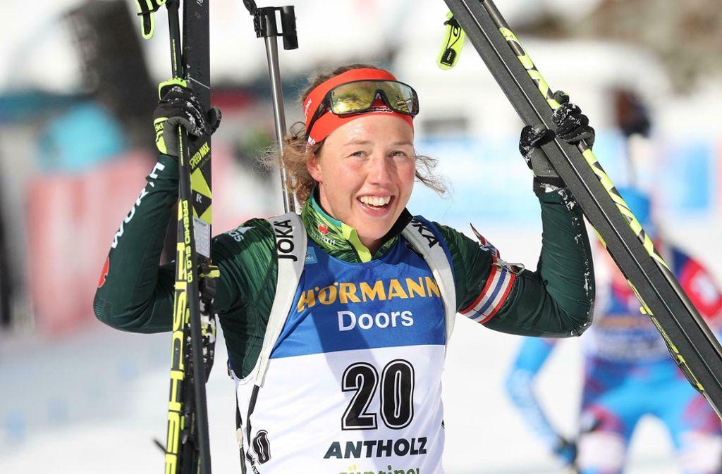 Laura   Dahlmeier plant eine Ausbildung zur Trainerin. Foto: AP/Andrea Solero