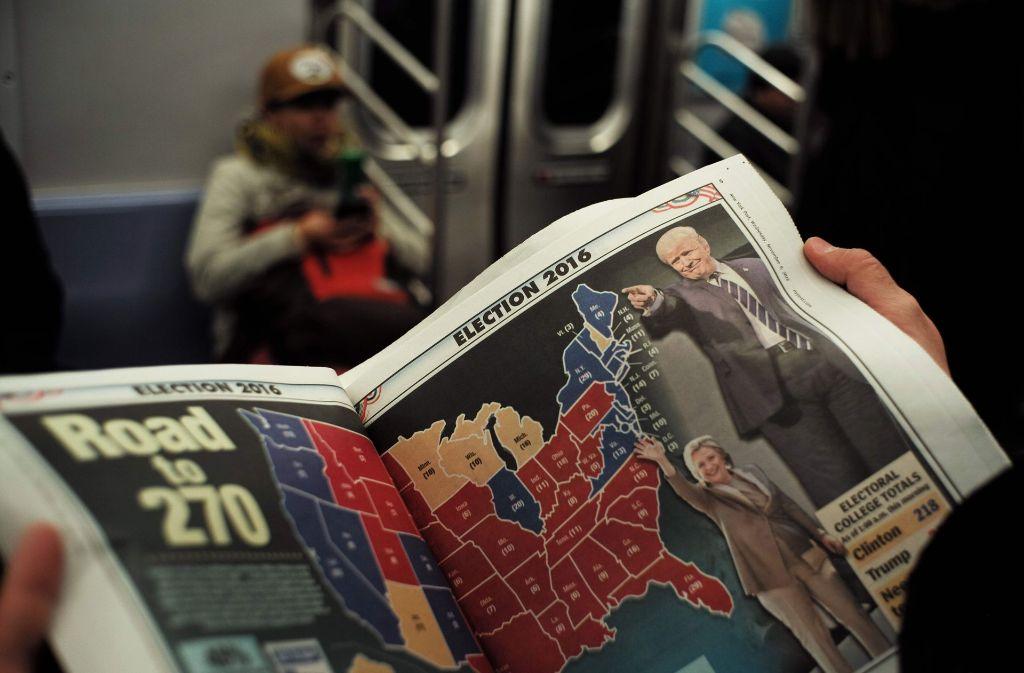 Das Wahlergebnis in den USA stellt die Welt auf den Kopf. Foto: AFP