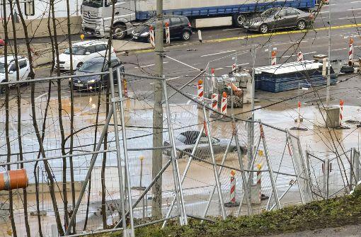 Wasserrohrbruch wegen S-21-Bauarbeiten
