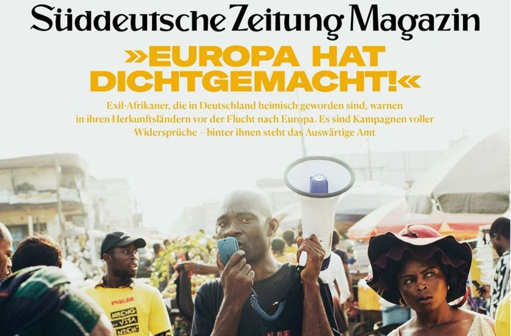 """Das """"SZ Magazin"""" erscheint wöchentlich. Eine teils gefälschte Geschichte konnte vor dem Druck abgefangen werden. Foto: SZ"""