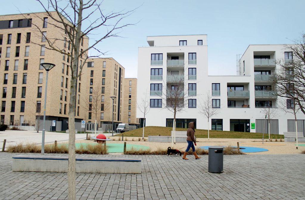 Modell für die Zukunft: Wohnen und Einkaufen – wie hier am Europaplatz – an einem Ort Foto: Ralf Recklies