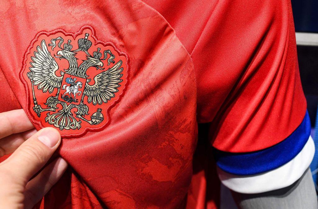 Fans fiel der Fehler nach der Vorstellung der neuen Ausrüstung sofort auf. Foto: AFP/KIRILL KUDRYAVTSEV