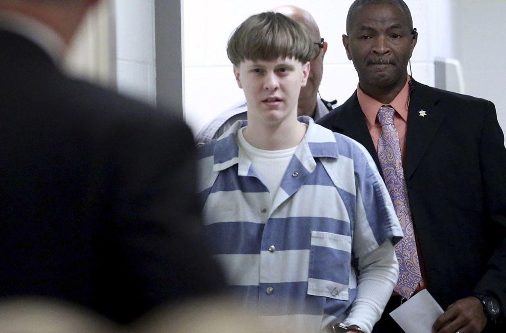 Dylann Roof wurde zum Tode verurteilt. Foto: AP/Grace Beahm