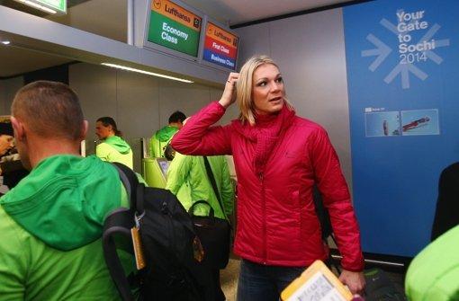 Deutsche Olympia-Athleten in Frankfurt verabschiedet